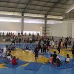 Atividade do IEFE com alunos da Escola Municipal Maria Carmelita Cardoso Gama